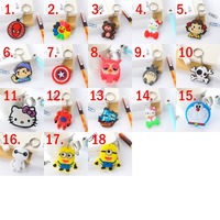 Wholesale 50PCS Lot Cute Cartoon Keychain Bag Pendant Key Ring Tell Us Which One Do You