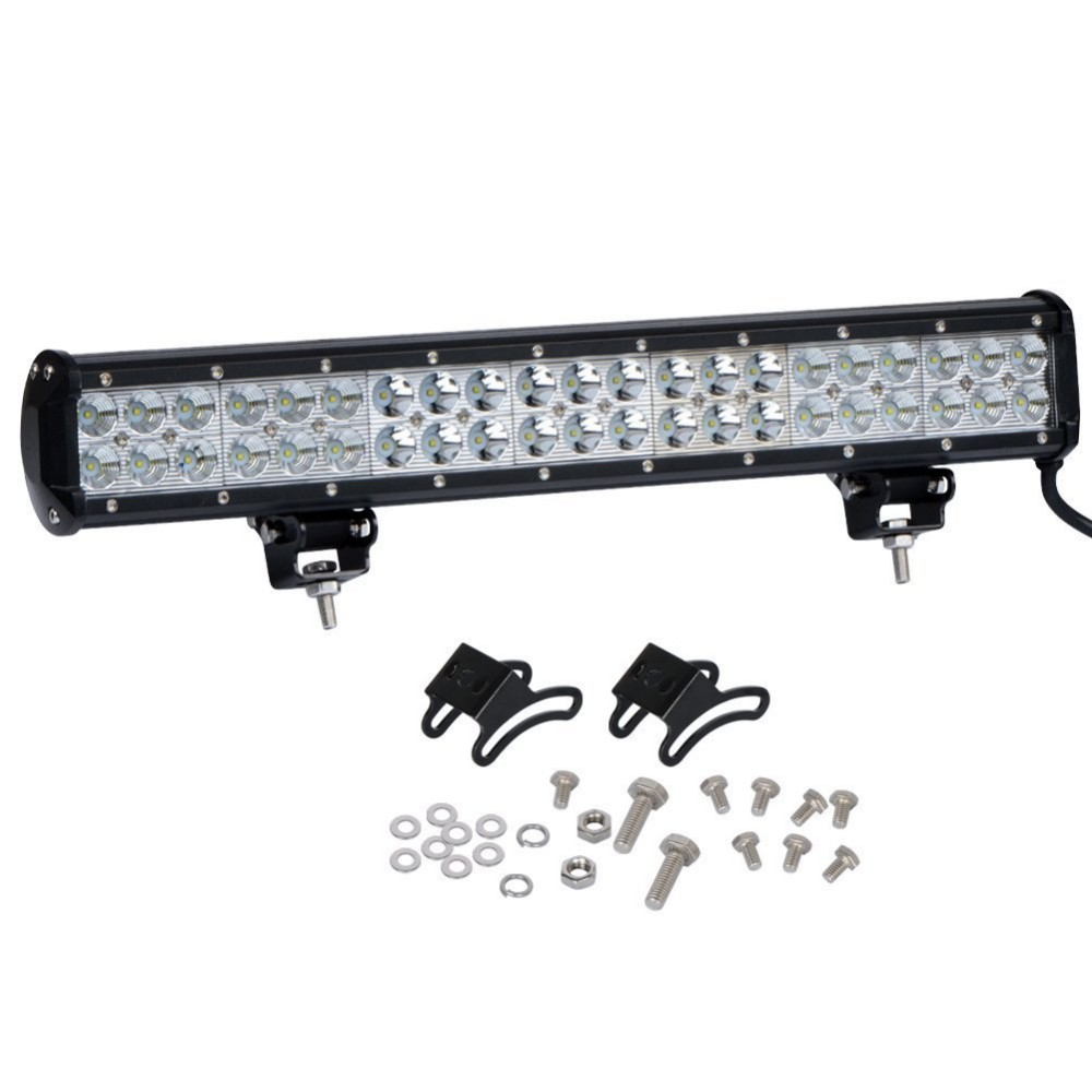 цена на DHL free 20 Inch 12-32v 24v 126W CREE LED Light Bar with Wiring Kit for Truck Trailer 4WD SUV ATV OffRoad Car Boat Spot Flood