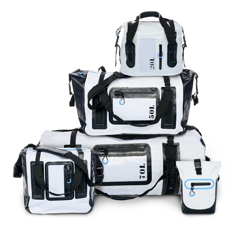 Dry Bag 20L 50L 70L Fiume Trekking Borsa Da Viaggio Impermeabile del Sacchetto di New Gear Borse in Tessuto per Canottaggio Escursionismo Campeggio Spiaggia