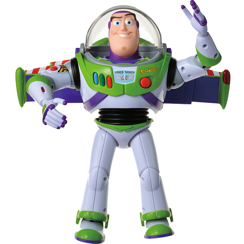 Toy Story 4 Buzz Light Year Toys Talking Lights Speak English Joint Movable Toy Story Action Figure Collectible Doll Toy