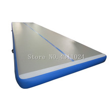 Free Shipping 8*1*0.2m Air Track Mat Inflatable Tumbling Mat Inflatable Tumble Track Trampoline Air Mats For Practice Gymnastic цена