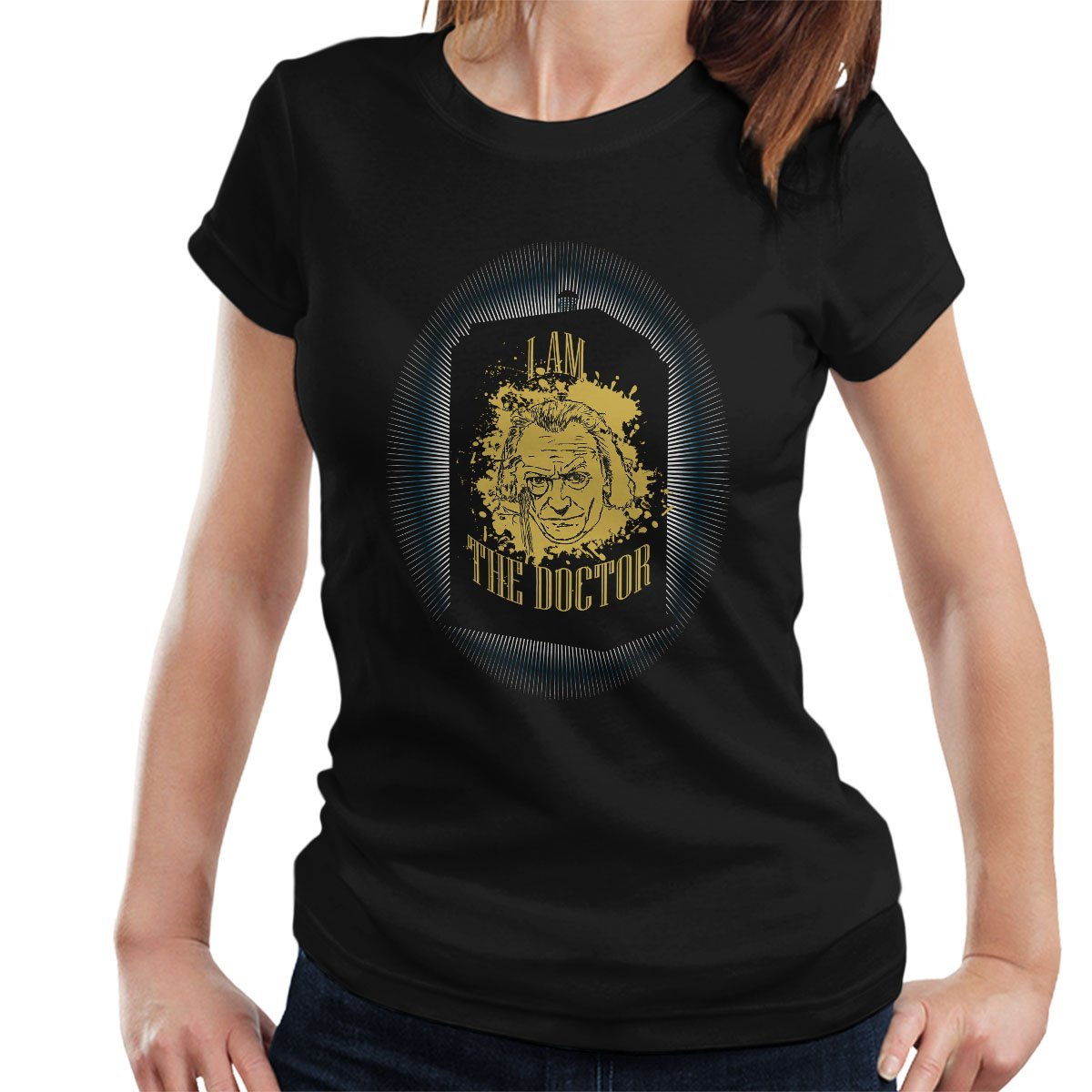 The First Doctor Who Hartnell Tardis Womens T-Shirt