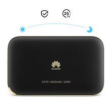 Original 300Mbps Huawei WiFi 2 Pro E5885  4G LTE FDD TDD Wireless Pocket WiFi Router With Ethernet Port 6400mAh Power Bank