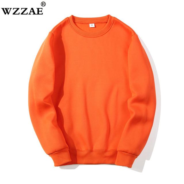 Solid Sweatshirts 2019 New Spring Autumn Fashion Hoodies Male Large Size Warm Fleece Coat Men Brand Hip Hop Hoodies Sweatshirts