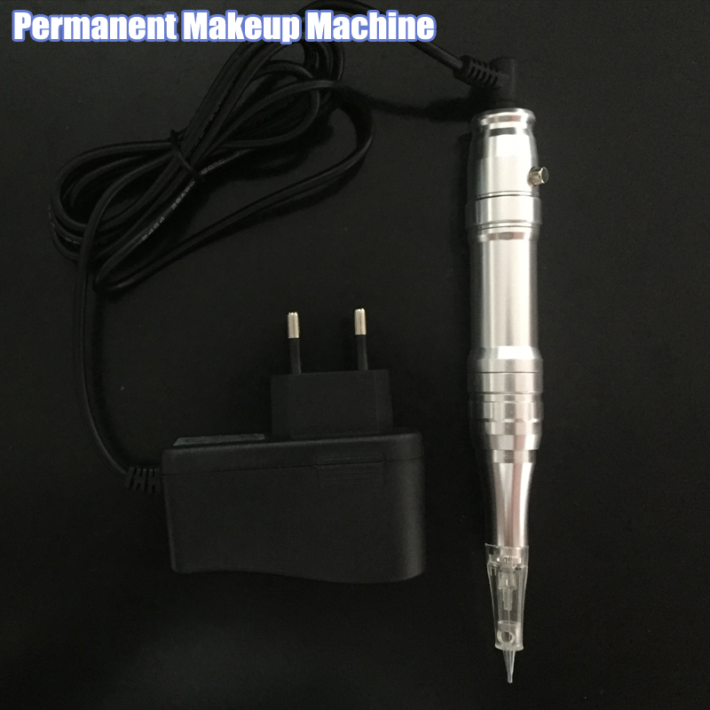 New Arrival Profession Permanent Makeup machine eyebrow lips pen & tattoo gun free shipping for tattoo Gun free shipping 1 piece permanent makeup pen machine 600d c with special needle 600d g for eyebrow lips tattoo machine kit