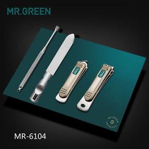 Image 4 - MR.GREEN المهنية الفولاذ المقاوم للصدأ مسمار كليبرز مجموعة المنزل 4 في 1 مانيكير أدوات أدوات للعناية الشخصية الفن المحمولة مسمار الشخصية نظيفة