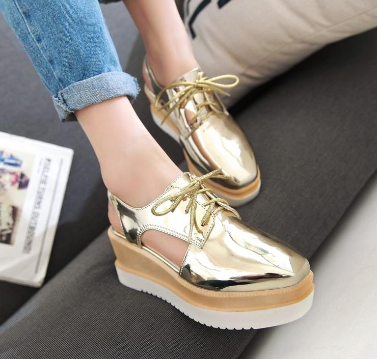 Online Get Cheap Silver Wedge Heels Aliexpress Com