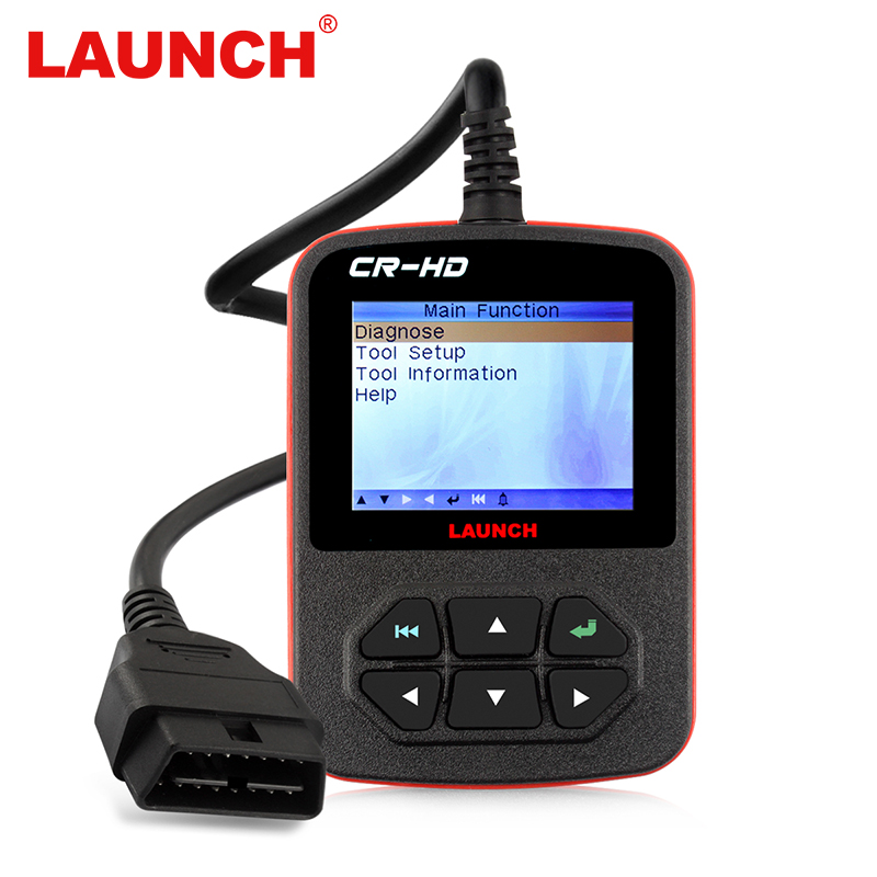 OBD2 Car Code Reader Launch Creader CR-HD Universal Automotive Scanner OBDII OBD 2 II Heavy Duty Truck Diagnostic Tool hot selling truck diagnostic tool t71 for heavy truck and bus obd2 code reader with j1939 j1587 1708 protocol obd2 code scanner