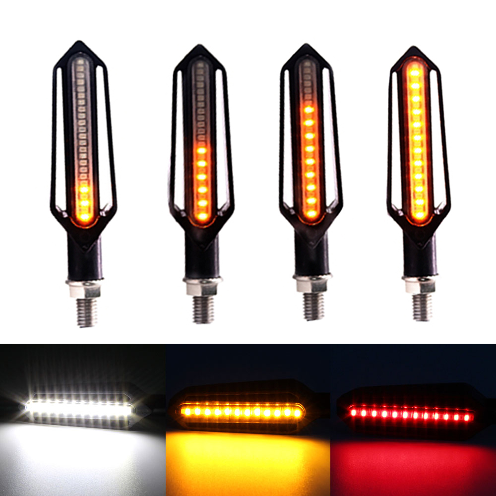 FOR Yamaha Fz1 Fazer Fz8 Xj6 Fz6 Mt-09 FZ-09 Mt07 Mt-07 Motorcycle Turn Signal Lights Flowing Flicker Led Blinkers