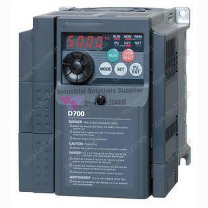 Input 3 ph 220v output 3 ph fr-d720-0.75k inverter 200~240v 4.2a 0.75kw 0.2~400hz new