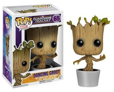 Marvel Hot Toys 10CM Funko PoP Dancing Groot Toy Guardians Of The Galaxy Vinyl Groot Collection Action Figure Model PVC Toys A new funko pop guardians of the galaxy tree people groot