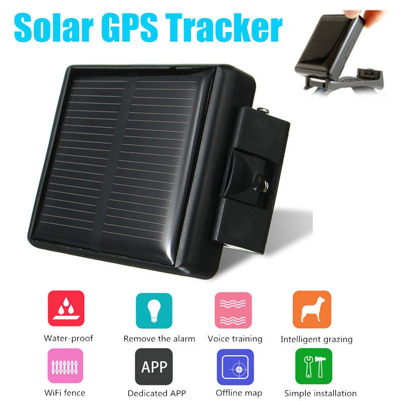 Solar GPS Tracker Class 12 TCP/IP 850/900/1800/1900MHz Pet Solar GPS/GSM Power Cow Tracker RF-V26 GPS Locator Waterproof