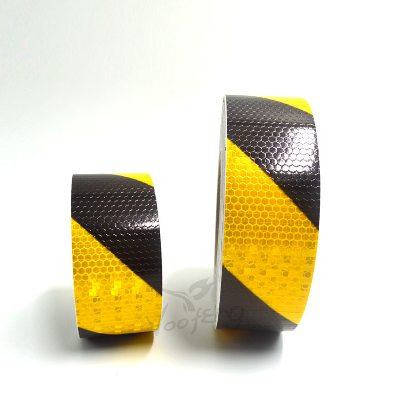 5CMX10M Yellow/Black Dual Color Self Adhesive Warning Tape With High Visibility