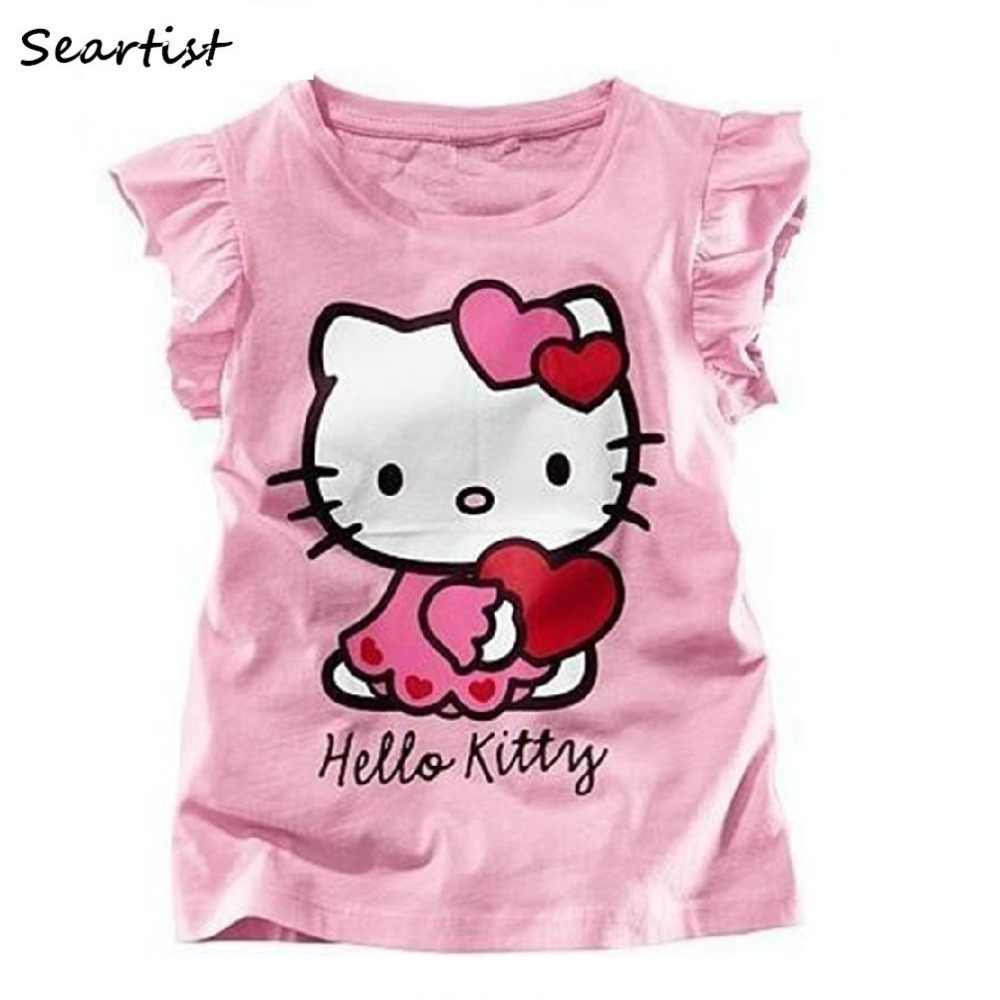 5128748ab4759 Seartist Baby Girls Hello Kitty Tshirt Baby Girls Summer T-shirt Girls  Clothes Baby Girl