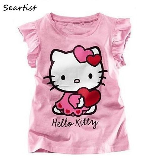 406fda1cd Seartist Baby Girls Hello Kitty Tshirt Girl Cartoon T-shirt Baby Girls  Summer T-shirt Girls Clothes Baby Girl Clothes 2019 45