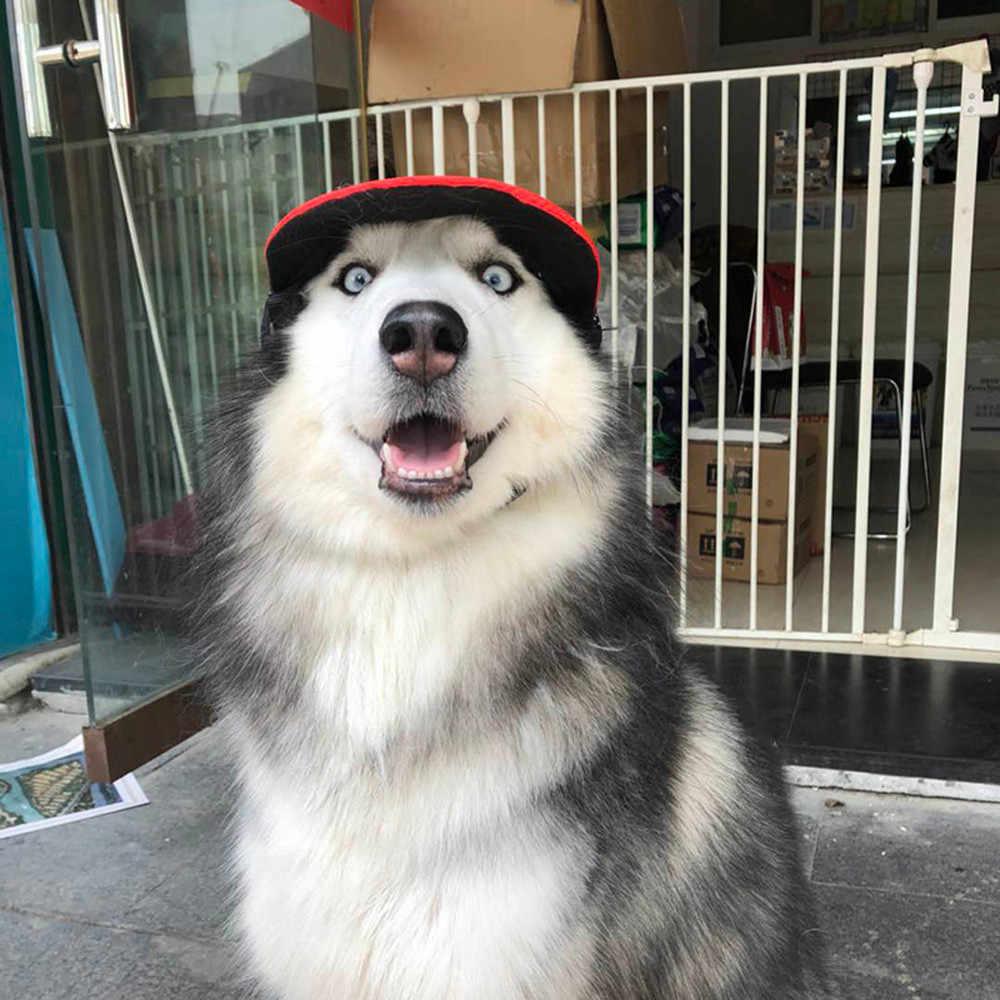 Pet Dog Hat Baseball Hat Summer Sun Hat Breathable Mesh Canvas Cap For Pet  Dog Outdoor cf28f11df4f4