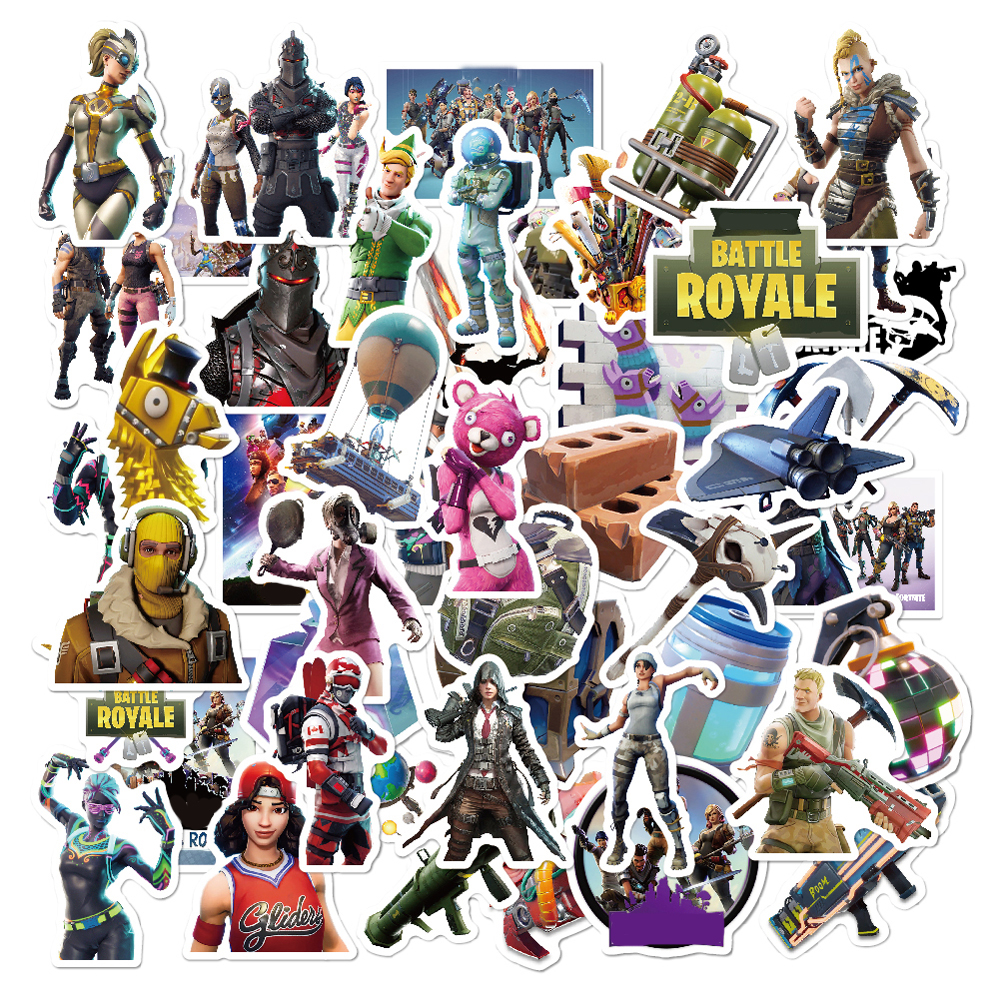 50 Pcs/pack Classic Fashion Style Graffiti Stickers With Gun For Moto Car & Suitcase Cool Laptop Stickers Skateboard Sticker