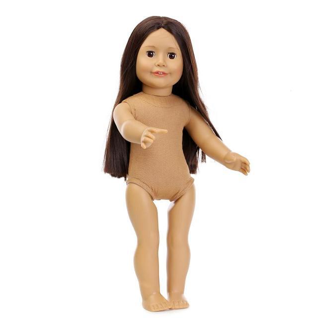 18 ''45 СМ Американский Милая Девушка Ткани Тела Без Одежды Заветной Ручной Куклы Глаза могут Мигать Силиконовые Возрождается Ребенка Игрушки куклы