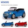 Высокая моделирования изысканный малыш игрушки новый \ оригинальный кабриолет мини купер s модель 1:43 сплава игрушечную машинку модель отлично подарки