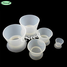 5 pcs/set Dental Soft Silicon Rubber Mixing Bowl with Sucking Base Autoclavable Reusable for Acrylics