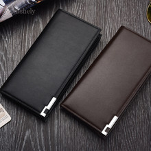 Vertical Wallet Men Famous Brand Luxury Soft Leather Men Wallets Coin Purse Man Moneybag Card Holder Bag(China)