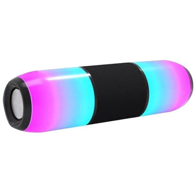 Led Portable coloré lumières Bluetooth haut-parleur Subwoofer extérieur sans fil double haut-parleurs boîte de son Support Tf Fm Usb pour téléphone