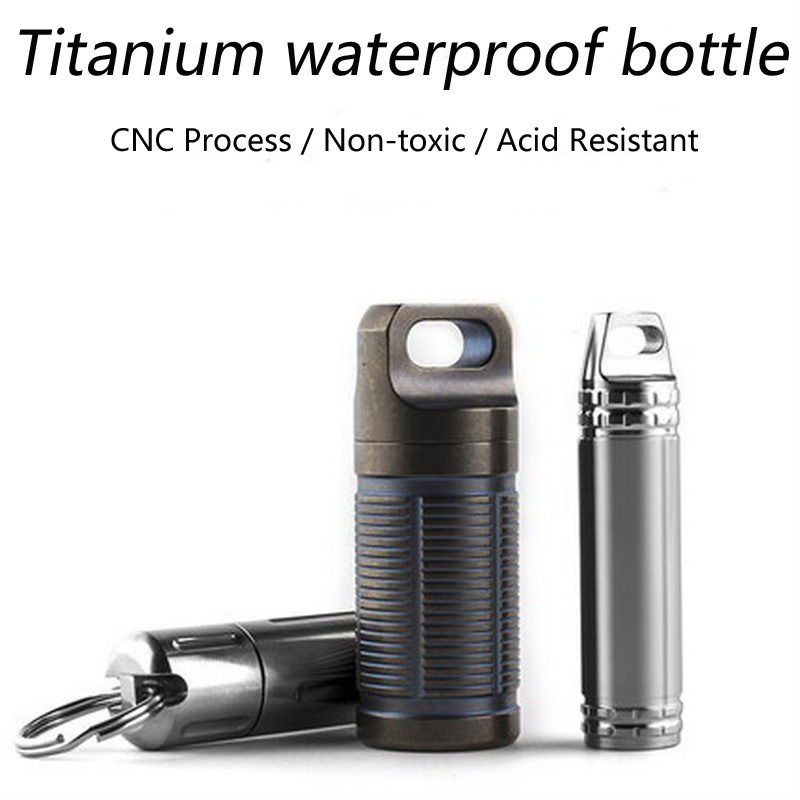 Titanium Alloy TC4 Waterproof Seal EDC Outdoor Portable Emergency Life-saving Capsule Multi-functional Small Pill Box Bottle стоимость