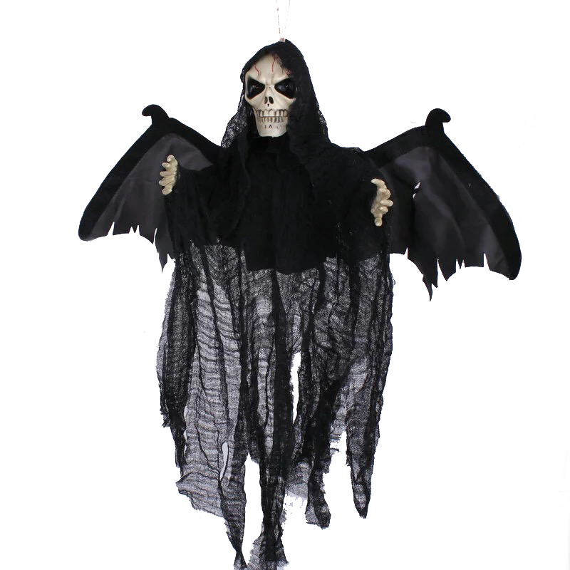 buy animated flying hanging ghost with red eyes scary sound and moving for halloween decorations from reliable ghost suppliers on giftower
