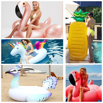 Giant Inflatable Swimming Rings Flamingos Pool Floats