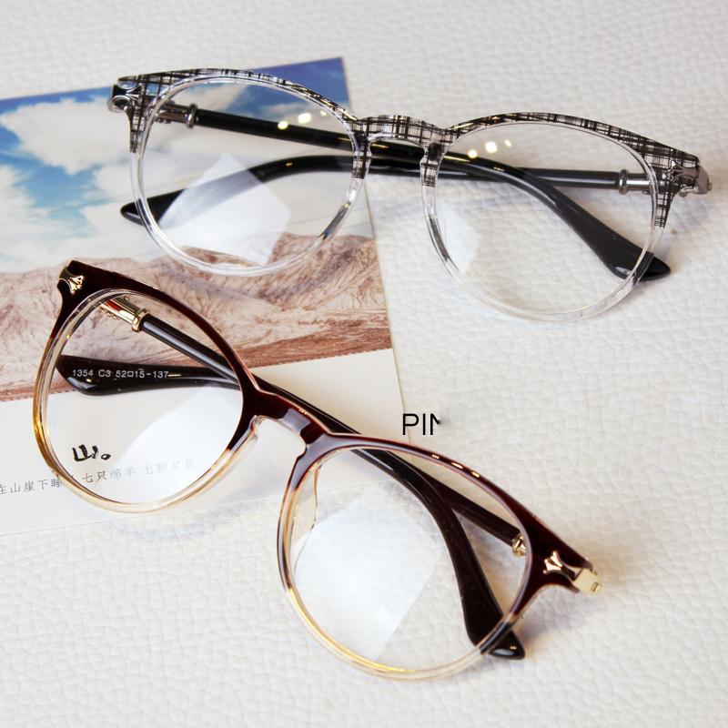 2016 retro women big clear glasses frames metal decoration men ...