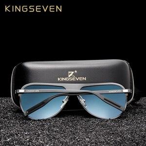 Image 2 - KINGSEVEN gafas polarizadas de aluminio para hombre, anteojos de sol masculinos de lujo, adecuados para conducir, con protección UV400