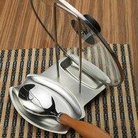 2016 Hot vidange plateau ne rouille métallique en acier inoxydable Pot Pan couvercle Rack étagères couteau / couvercle étagères cuisine cuisson Ware outils