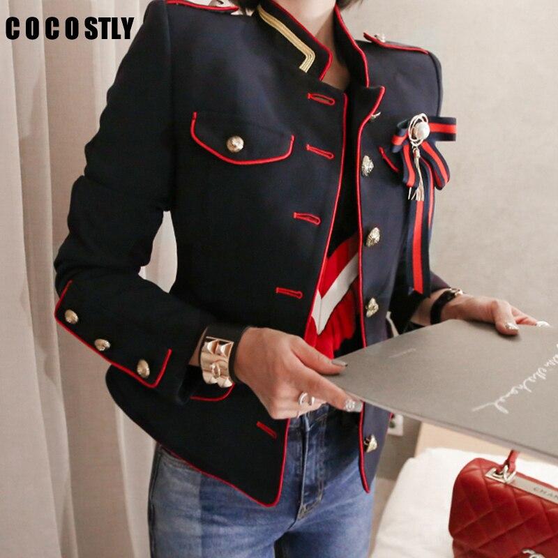 Mode femmes veste épais chaud travail style tendance manteau OL confortable extérieur tempérament automne hiver outwear frais veste