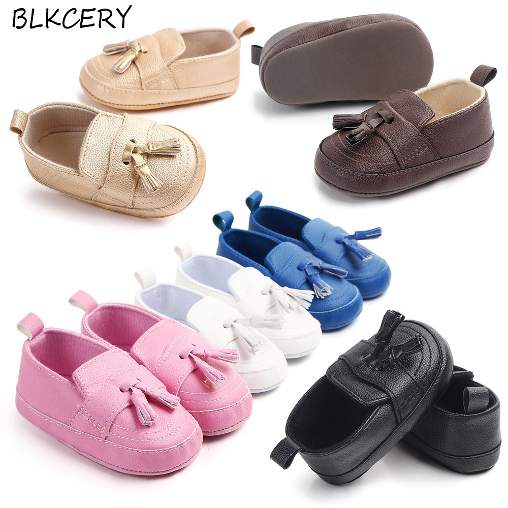 Baby Boy Shoes 1 Year Old New Born Shoes Toddler Baby Girl Soft First Walkers Christian Slippers Birthday Gifts Party Footwear