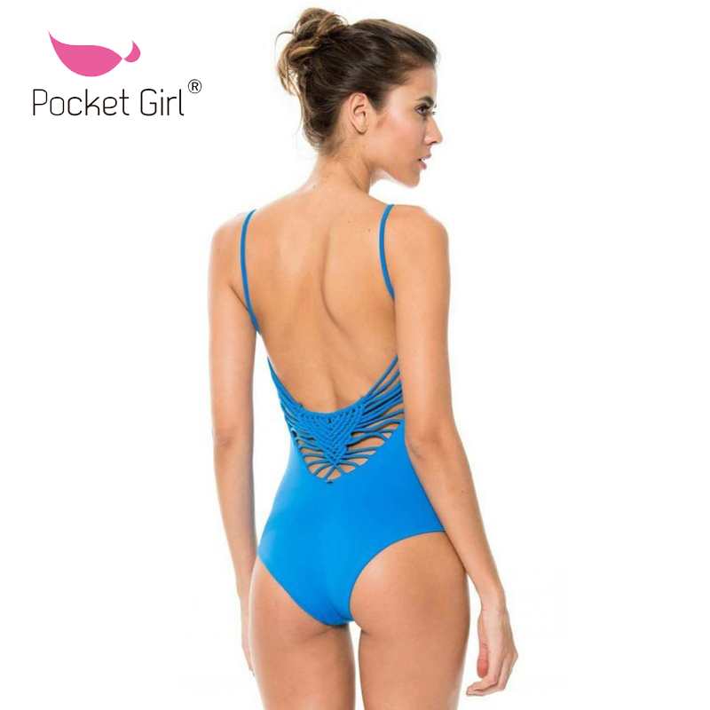 1d66ed240124b 2019 New Monokini Bodysuit Swimming Suit Trikini Sexy Halter Crochet One  Piece Swimsuits Women Surfing Swimwear