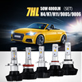 Auxmart 7HL Car Headlights H4 LED H7 H11/H8/H9 9005 9006/HB4 50W 4000LM Front Bulb Automobile Headlamp 3000K 6500K Car Lighting
