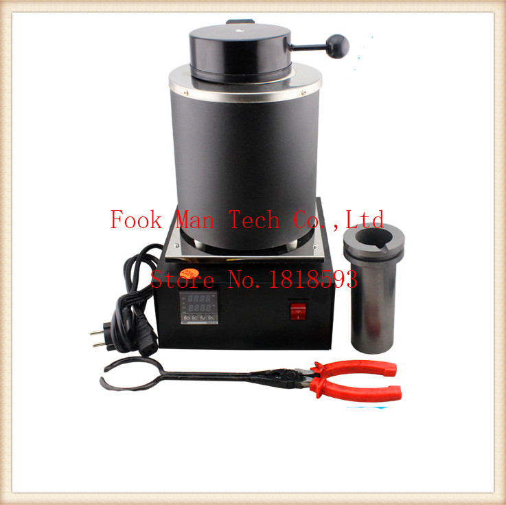 FREE SHIPPING 2kg Gold, Copper, Silver, Aluminum, Iron, Steel . Induction Melting Furnace,gold Melting Furnace