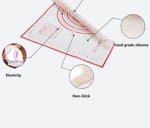 Image 4 - Mata silikonowa do pieczenia do wyrabiania ciasta podkładka ze skalą Rolling NonStick ciasto Liner forma do pieczenia kuchnia akcesoria do pieczenia