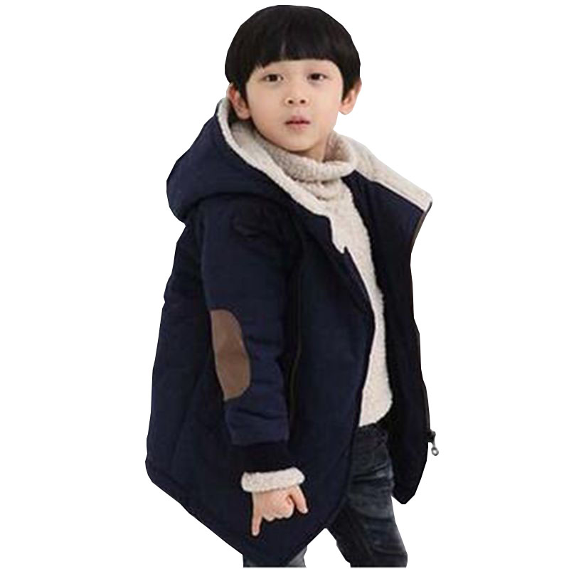 2017 New winter Boy Girls Jacket Hooded Thicken Children Clothes Girl Coat Boy Cotton-Padded Clothes Fashion Kids Clothing DC595 цены онлайн