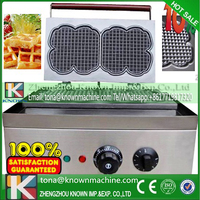Golden supplier industrial waffle maker price for making flower waffle