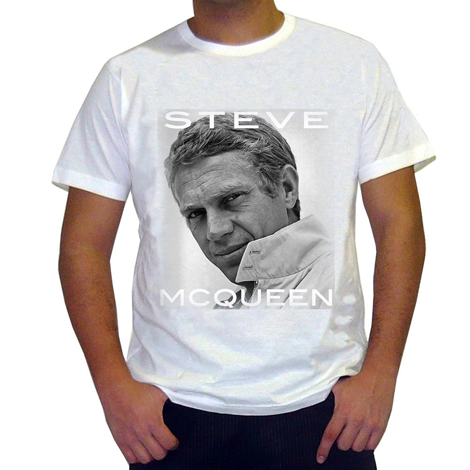 Male Battery Funny Cotton Tops Steve Mcqueen T shirt Celebrity Star One In  The City-in T-Shirts from Women s Clothing on Aliexpress.com  7fd73c92d77