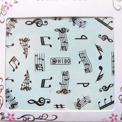 NOTE *Nail art water transfer decal/stickers/print/accessories *wholsale*drop shipping * black music h series