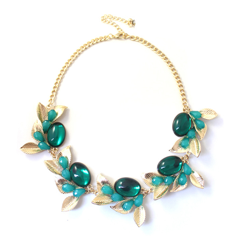 Marte&joven 2018 New Candy Color Resin Flower And Leaf Statement Necklaces For Women Pure White And Translucent Jewelry & Accessories