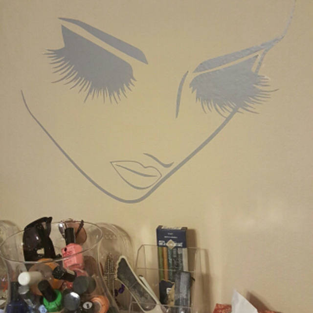 Online Shop Lashes Beauty Salon Vinyl Wall Decal Stickers Girl Woman ...