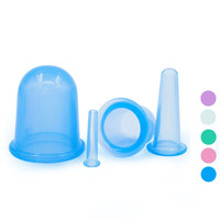 4pcs 1Set New Arrival Family Body Massage Helper Small Cups Anti Cellulite Vacuum Silicone Massage Cupping
