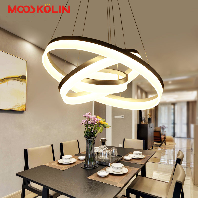 Modern LED Pendant lights For Dining room Bedroom Pendant Lamp Round Ring Light Fixture Suspension Acrylic Hanging Lamp Colgante baby large inflatable swimming pool with inflatable slide pool child baby kids infant bath tub inflatable baby swimming pool