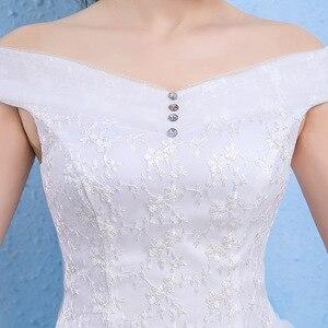 Image 3 - Vestido De Novia Luxury Crystal Wedding Dresses Ball Gown Off Shoulder Lace Up Elegant Cheap Lace Bride Dresses Robe De Mariee