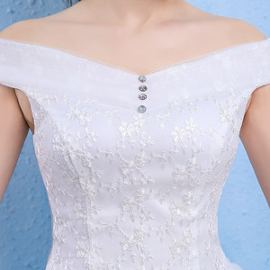 Image 3 - Vestido De Novia luksusowy kryształ suknie ślubne suknia balowa off ramię zasznurować eleganckie tanie koronkowe suknie panny młodej Robe De Mariee