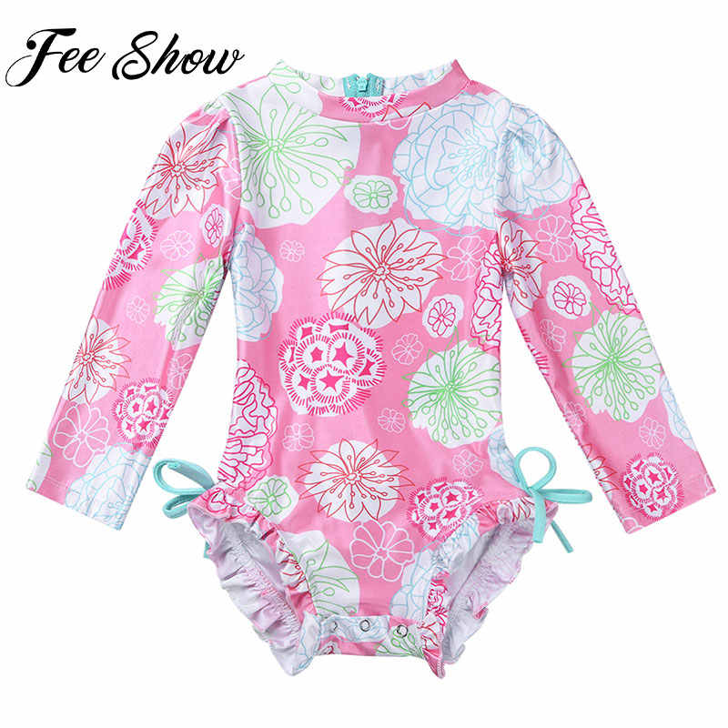 cd8db516d65c2 2018 Newborn Toddler Infant Kids Baby Girl Floral Printed Swimwear  One-piece Swimsuit Bathing Suit