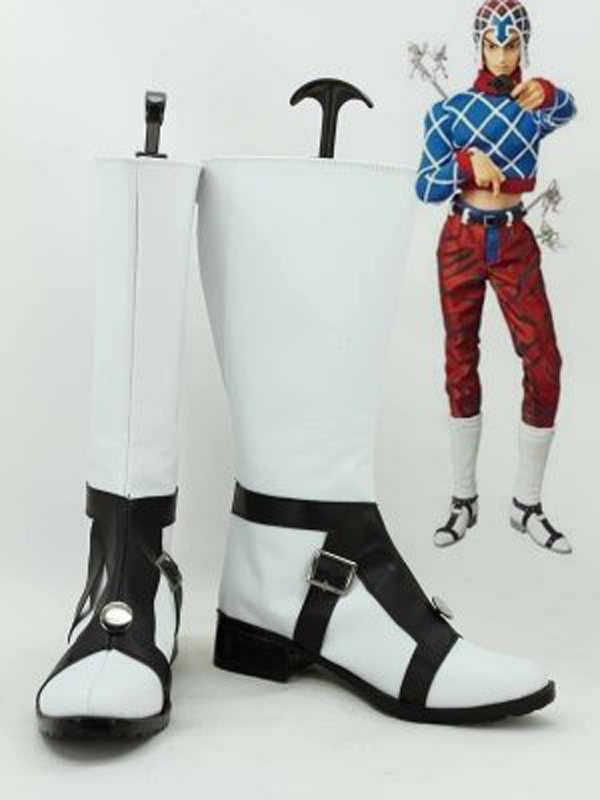 JOJO Guido Mista Black & White Cosplay Boots Shoes Men Cosplay Costume Party Shoes Custom Made Boots